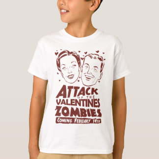 Attack of the Valentines Zombies Tshirts