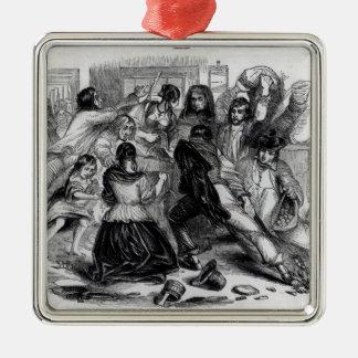 Attack on a Potato Store in Ireland, c.1845 Christmas Ornament