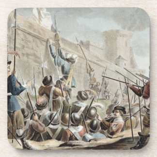 Attack on Boulogne-Sur-Mer, engraved by Jean Bapti Coaster