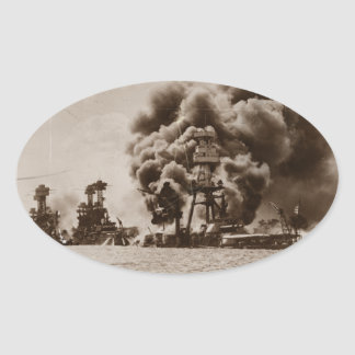 Attack on Pearl Harbor Oval Sticker