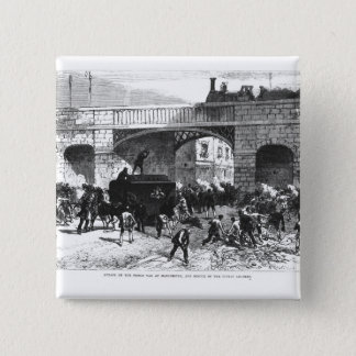 Attack on the Prison Van at Manchester 15 Cm Square Badge