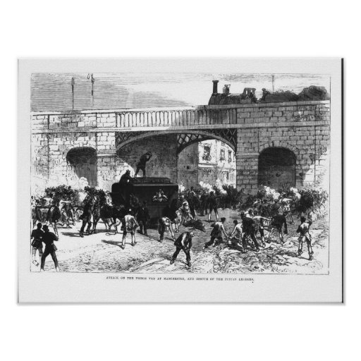 Attack on the Prison Van at Manchester Poster