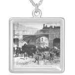 Attack on the Prison Van at Manchester Silver Plated Necklace