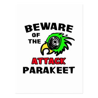 Attack Parakeet Postcard
