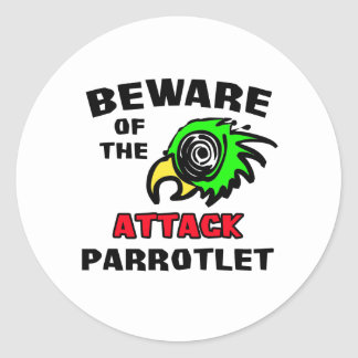 Attack Parrotlet Round Sticker