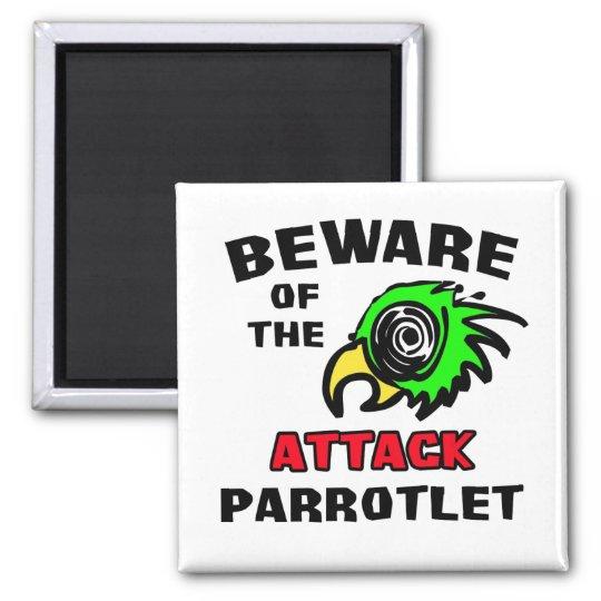 Attack Parrotlet Square Magnet