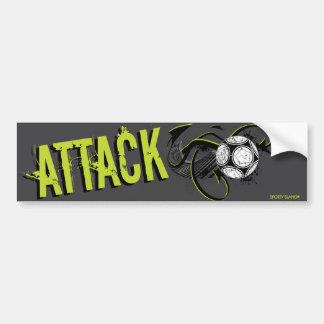 Attack - Sporty Slang Soccer Bumper Sticker