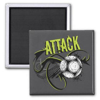 Attack - Sporty Slang Soccer Magnet