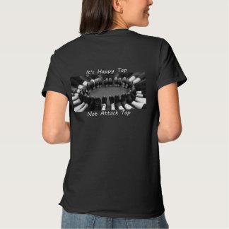 Attack Tap - Black Tshirt - B/W circle feet