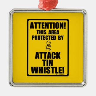 Attack Tin Whistle Christmas Tree Ornament