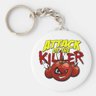 attacktomatoes basic round button key ring