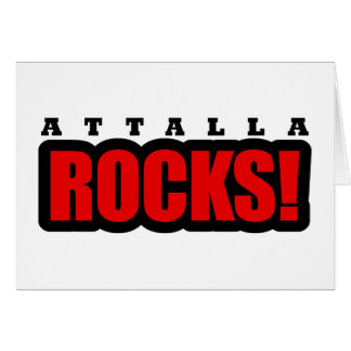 Attalla Alabama City Design Greeting Card