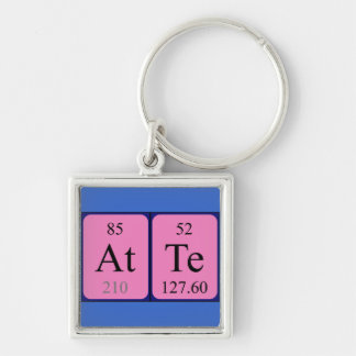 Atte periodic table name keyring keychains