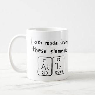 Atte periodic table name mug