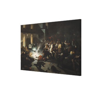 Attempted Assassination of Emperor Napoleon Canvas Print