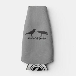Attempted Murder Crow Bottle Koozie