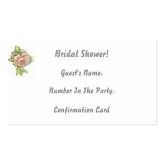 Attendance Confirmation Card-Customize Pack Of Standard Business Cards
