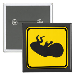 Attention: Baby Ahead! 15 Cm Square Badge