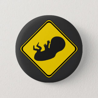 Attention: Baby Ahead! 6 Cm Round Badge