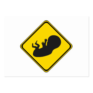 Attention: Baby Ahead! Pack Of Chubby Business Cards