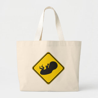 Attention: Baby Ahead! Jumbo Tote Bag