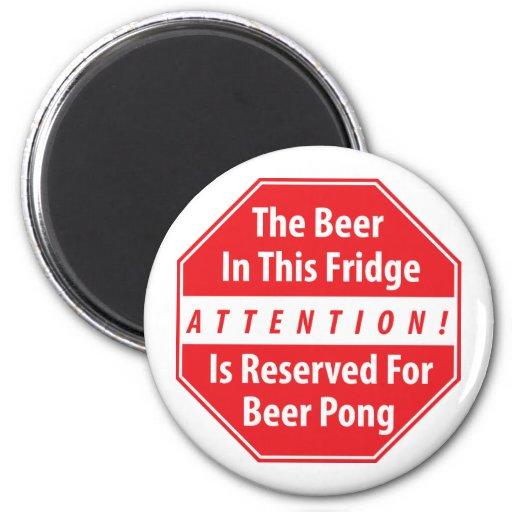 Attention! Beer Pong Magnet