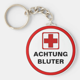 Attention - BLUTER Basic Round Button Key Ring
