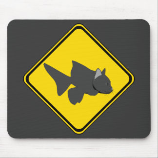 Attention: Catfish Crossing! Mouse Pad