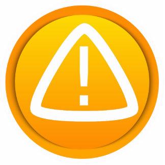 Attention Caution Symbol Standing Photo Sculpture