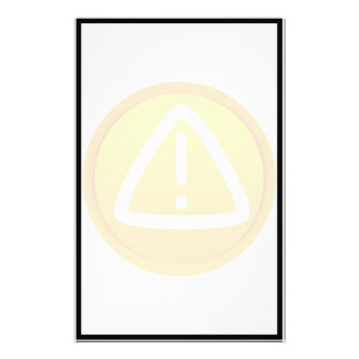 Attention Caution Symbol Stationery Design