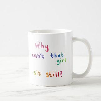 Attention deficit disorder girls women fun art basic white mug
