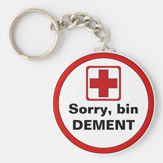Attention - dementia key ring