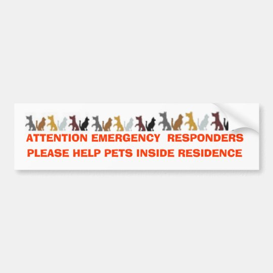 ATTENTION EMERGENCY RESPONDERS, PLEASE HELP PE BUMPER STICKER