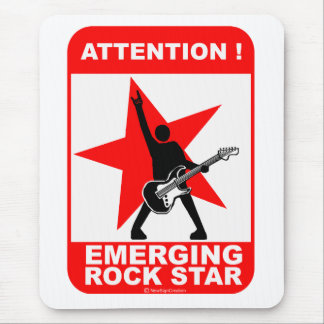 Attention! emerging rock star! mouse pad