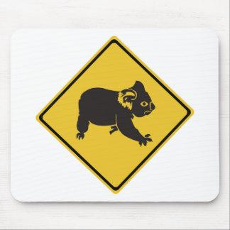 Attention Koalas, Traffic Warning Sign, Australia Mouse Pad