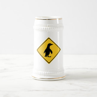 Attention Penguins, Traffic Sign, New Zealand Beer Steins