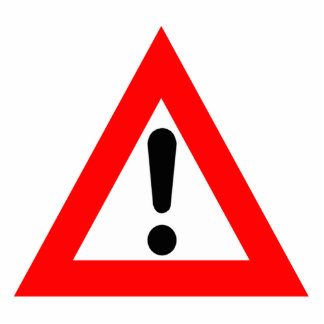 Attention Triangle Symbol Standing Photo Sculpture