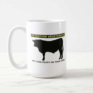 Attention Vegetarians Funny Meat Lovers Mug