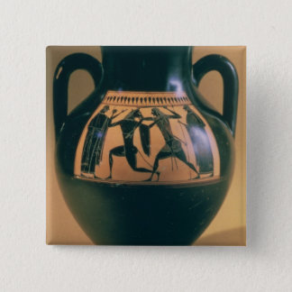 Attic black figure amphora depicting Theseus and t 15 Cm Square Badge