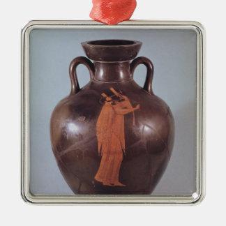 Attic red figure amphora christmas ornament