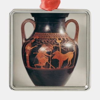 Attic red-figure belly amphora christmas ornament