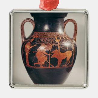 Attic red-figure belly amphora Silver-Colored square decoration
