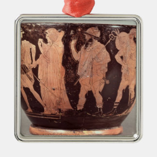 Attic red figure skyphos christmas ornament
