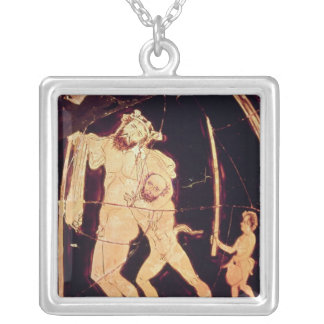 Attic red-figure vase silver plated necklace