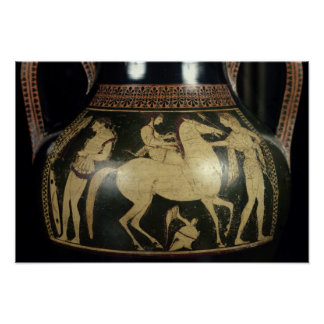 Attic white-figure amphora poster