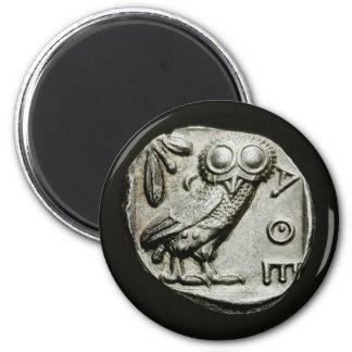 Attica Tetradrachm Owlthena 6 Cm Round Magnet