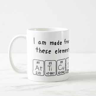 Atticus periodic table name mug