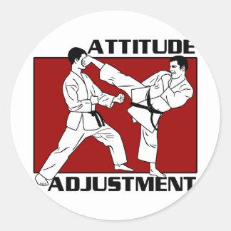 Attitude Adjustment Classic Round Sticker