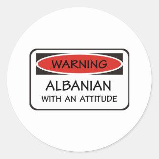 Attitude Albanian Classic Round Sticker