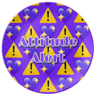 "Attitude Alert 10.75"" Decorative Porcelain Plate"